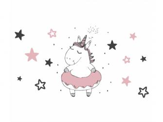"""Vanička 84cm """"Unicorn"""" se zátkou, Šedá/Růžová 5"""