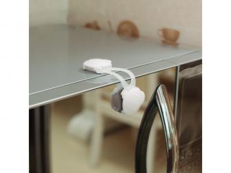 Mini zámek skříněk ohebný  2ks, white