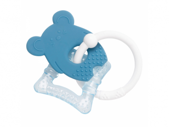 Kousátko silikonové s chladící částí bez BPA modrá myška