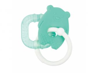 Kousátko silikonové s chladící částí bez BPA zelený macko