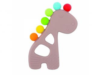 Kousátko silikonové s výstupky bez BPA žirafa