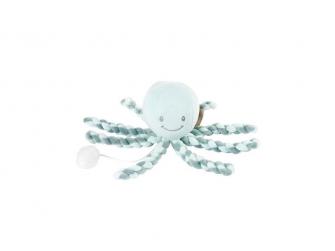 První hračka miminka hrající chobotnička PIU PIU Lapidou coppergreen - mint 0m +