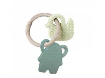 Kousátko silikonové BPA free Lapidou sloník zelená