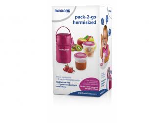Termoizolační pouzdro + kelímky na jídlo Pink 2ks 7