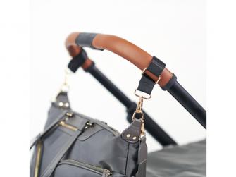 Přebalovací taška na kočárek a batoh 2v1 LUNA, grey 3