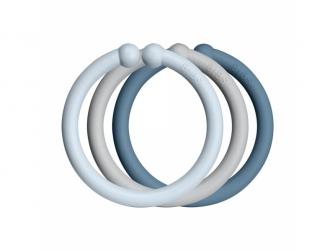 Loops kroužky 12 ks Baby Blue/Cloud/Petrol