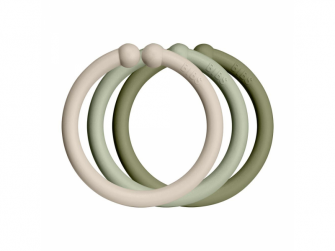 Loops kroužky 12 ks Vanilla/Sage/Olive