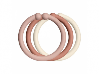 Loops kroužky 12 ks Blush/Woodchuck/Ivory