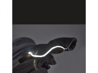Set svítíci fusak Exclusive Outlast®a rukavice na kočár45x90cm,50x100cmčerná/šedá 2