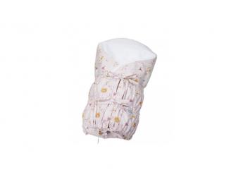 Zavinovačka šněrovací pevná záda ANGEL - Outlast® 77x77cm růžová liška a medvěd