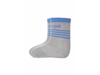 Ponožky tenké protiskluz Outlast® 15-19, tm.šedá/modrá