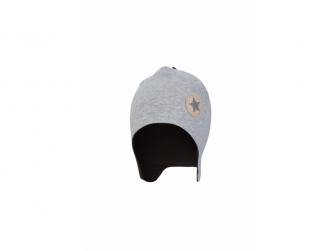 Čepice laponka podšitá Outlast ® 5 - 49-53cm, šedý melír/černá