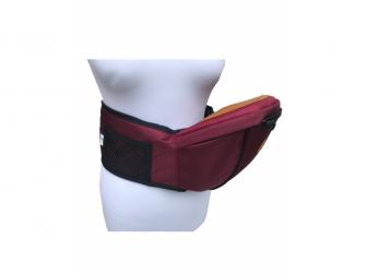 HIPSEAT BOB - ergonomické poponášedlo, Burgundy Red