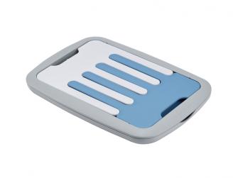 Skládací odkapávač kojeneckých lahví šedá/modrá 3