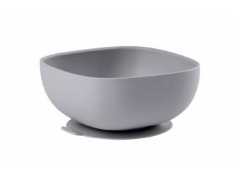 Miska silikonová s přísavkou Grey