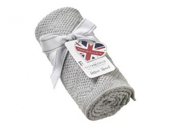 Pletená deka - šedá