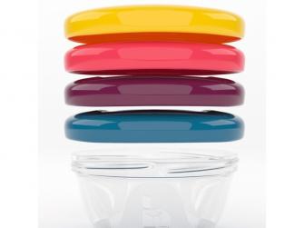 barevné misky s víčky 120ml - sada 4ks 2