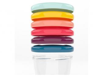 barevné misky s víčky 250ml - sada 6ks 2