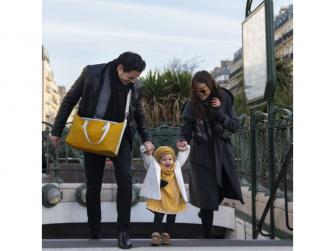 přebalovací taška Le Champs Elysées YELLOW 5