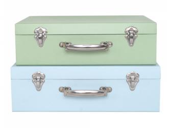 Kufr zelený / modrý