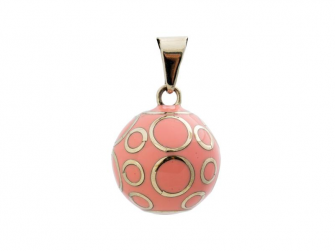 BOLA rose with silver circles