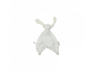 HOPPA Floppy mazlíček 100% organic terry stars white/taupe
