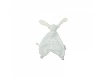 HOPPA Floppy mazlíček 100% organic terry houses white/mint