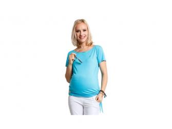 Těhotenská halenka Melody turquoise top S 2
