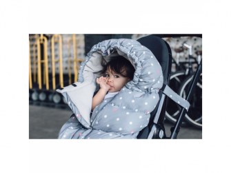 Fusak Blanket 212 Evolution Grey Polkadots 4