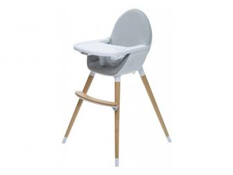 Jídelní židlička FIKA světle šedá