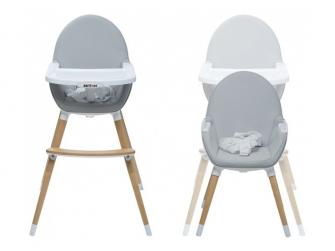 Jídelní židlička FIKA tmavě šedá 4