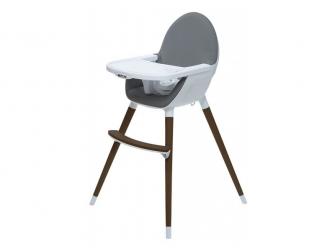 Jídelní židlička FIKA tmavě šedá