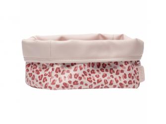 Textilní košík na kojenecké potřeby Leopard Pink
