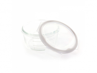 skleněné misky s víčky B-GLASS BOWLS 280ml White/Grey/Blue 3