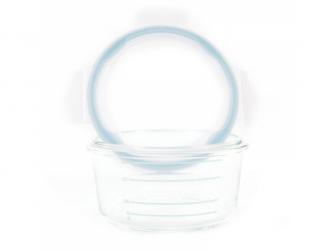 skleněné misky s víčky B-GLASS BOWLS 280ml White/Grey/Blue 4