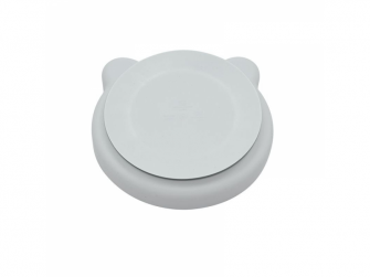 silikonový talíř s přísavkou Bear Grey 3