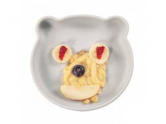 silikonový talíř s přísavkou Bear Grey 4