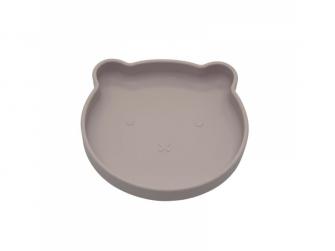 silikonový talíř s přísavkou Bear Pastel Pink 2