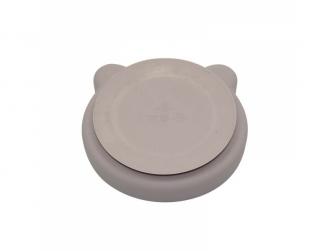 silikonový talíř s přísavkou Bear Pastel Pink 3