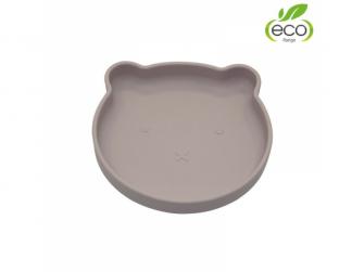 silikonový talíř s přísavkou Bear Pastel Pink