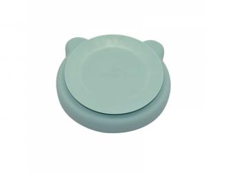 silikonový talíř s přísavkou Bear Pastel Blue 2