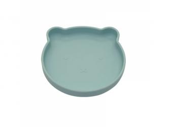 silikonový talíř s přísavkou Bear Pastel Blue 3