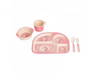 kukuřičná jídelní sada B-Dinner Unicorn Pink