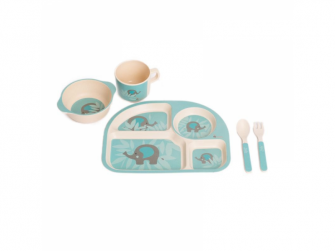 kukuřičná jídelní sada B-Dinner Elephant Blue
