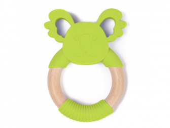 kousátko B-TEETHER ANIMAL WOOD Green Koala