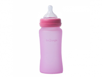 skleněná láhev B-Thermo 240ml Pink 2