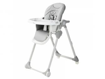 Jídelní židlička B-DINNER CHAIR WHEELY Grey + DÁREK ZDARMA 2