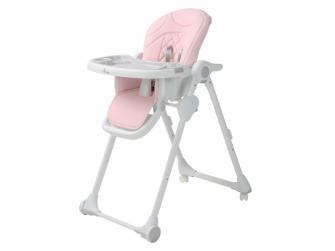 Jídelní židlička B-DINNER CHAIR WHEELY Pink + DÁREK ZDARMA 2