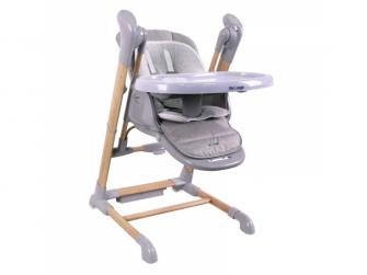 jídelní židlička B-SWINGING CHAIR Wood Grey
