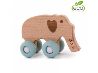 dřevěná hračka B-WOODY Elephant Pastel Blue